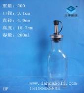 200ml方形橄榄油玻璃瓶