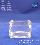 100ml方形迷你水培玻璃瓶