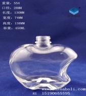 450ml厚底苹果玻璃酒瓶