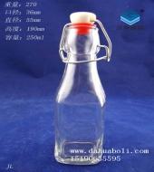250ml方形卡扣玻璃瓶