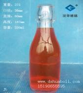 250ml圆卡扣玻璃瓶