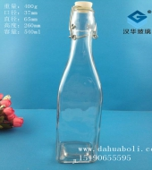 500ml方形卡扣玻璃酵素瓶