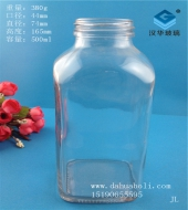 500ml方形饮料玻璃瓶