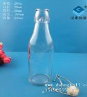 250ml圆形卡扣玻璃酒瓶