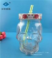 500ml骷髅头果汁玻璃瓶