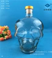 800ml骷髅头工艺玻璃酒瓶
