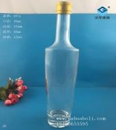 500ml晶白料玻璃油瓶