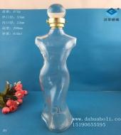 600ml工艺美女玻璃酒瓶
