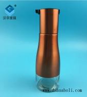 300ml电镀金色不锈钢玻璃可控油壶