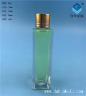400ml晶白料长方形分装玻璃小酒瓶