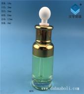 40ml电镀金丝胶头滴管玻璃瓶