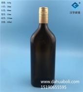 500ml茶色长方形黄酒玻璃瓶