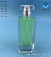 100ml晶白料厚底长方形香水玻璃瓶