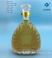 750ml冰花玻璃洋酒瓶