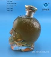 750ml骷髅头洋酒玻璃瓶