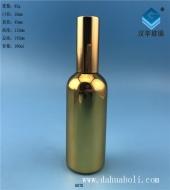 100ml电镀金色玻璃精油玻璃瓶
