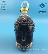 750ml佛头工艺玻璃酒瓶