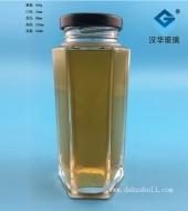 350ml高档六棱蜂蜜玻璃瓶