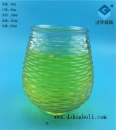 950ml波浪纹蜡烛玻璃杯