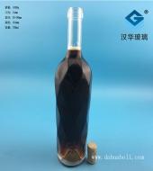 750ml出口菱形红酒玻璃瓶