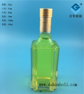 500ml方形玻璃白酒瓶
