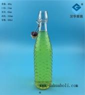 500ml卡扣玻璃饮料瓶