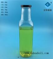 900ml出口方形饮料玻璃瓶
