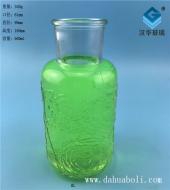 600ml玫瑰浮雕玻璃花瓶